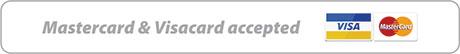 Mastercard & Visacard accepted